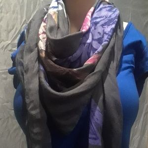 APT. 9 - Grey w/multi colored scarf